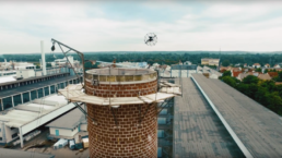 Schornstein Inspektion mit Spectair Elios Drohne